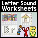 Letter Sounds Worksheets {26 Pages A-Z} Alphabet Worksheets