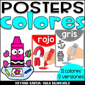 Color posters- COLORES SPANISH