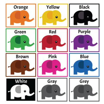 Color posters: Elephants