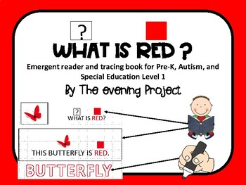 Color red-emergent reader/writing book for Pre-K, Autism & Spec. Educ. level 1&2