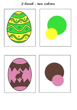 Color set palette Easter