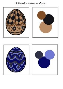 Color set palette Easter