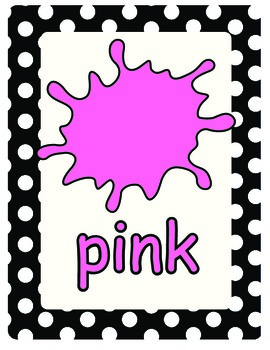 Color signs/posters for your classroom