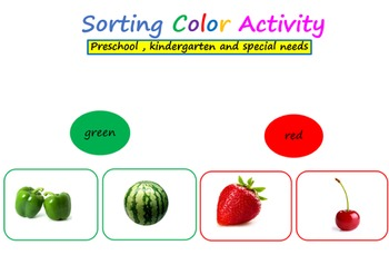 Color sorting activity - Preschool, kindergarten and speci