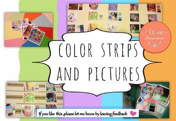 Color strips and pictures match puzzles
