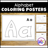 Color the Alphabet Poster Activities