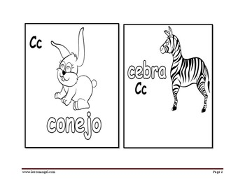 Color the Animals of the Spanish Sounds