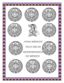 Color the Aztec Calendar & Headband-Word Search Mexican Foods- Mexico