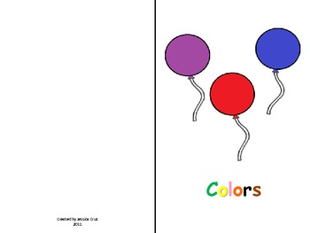 Color the Balloons with the corresponding color word