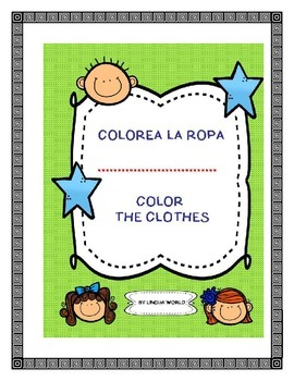 Color the Clothes in Spanish