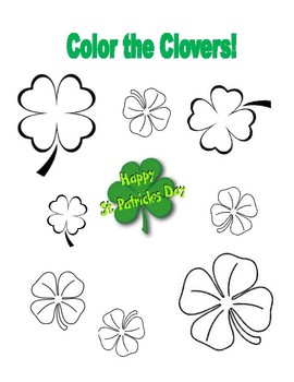 Color the Clovers! St. Patrick's Day