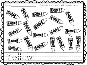 Color the Crayon! {{A color sight word practice packet)