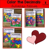 Color the Decimals: Valentine Edition