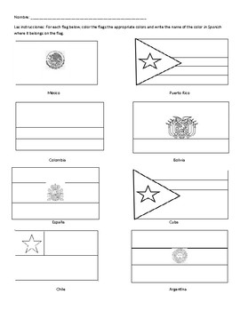 Color the Flags Coloring Sheet