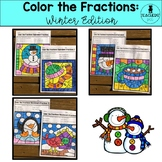 Color the Fractions: Winter Edition