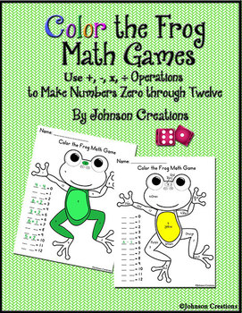 Color the Frog Math Games