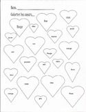 Color the Hearts (French)