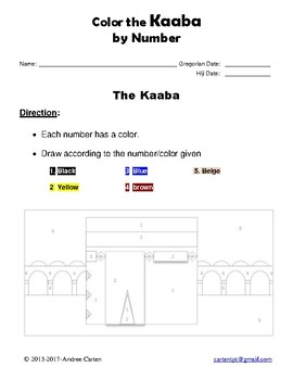 Color the Kaaba by Number