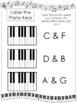 Color the Keys Worksheets. Beginning Music. Preschool-2nd