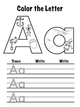 Color the Letter