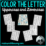 Color the Letter- Uppercase and Lowercase