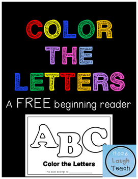 Color the Letters Beginning Book