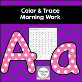 Color the Letters Morning Work