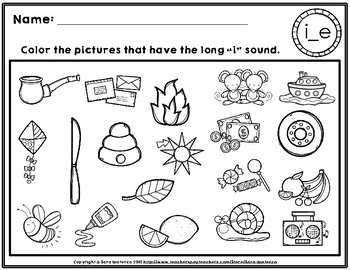 Color the Long I Phonics Practice Pages