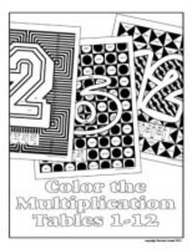 Color the Multiplication Tables 1-12