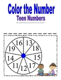 Color the Number (Teens)