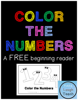 Color the Numbers Beginning Reader