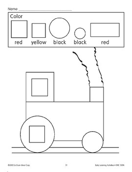 Color the Picture: Red/Yellow/Black