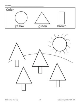 Color the Picture: Yellow/Green/Brown