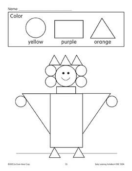Color the Picture: Yellow/Purple/Orange