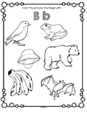 Alphabet Beginning Sounds Coloring Printables