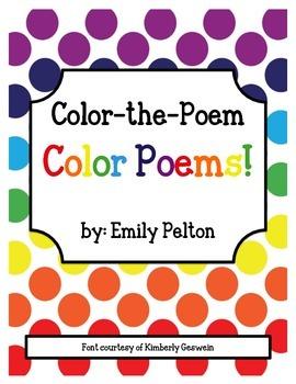 Color-the-Poem Color Poems!