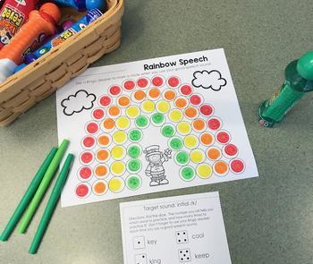 St. Patrick's Day Articulation Bingo Dauber Activity