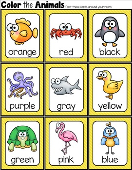 Color the Room {Color Word Activities}