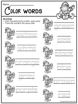 Color Matching Activity Set - Colorful Elves