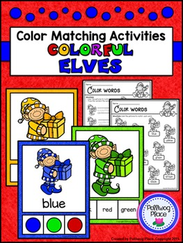 Color Matching Activity Set - Colorful Elves