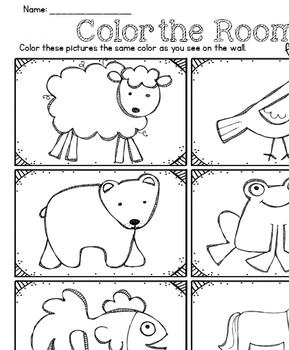 Color the Room Brown Bear, Brown Bear for Beginners