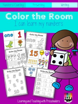 Color the Room I can learn my numbers