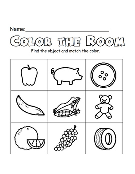 Boardmaker Color the Room - Objects