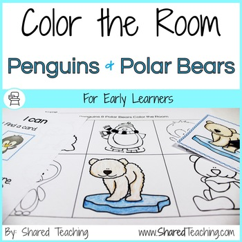 Color the Room Penguins and Polar Bears
