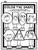 Color the Room/Write the room-Shapes