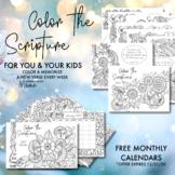 Color the Scriptures & 2021 Calendars