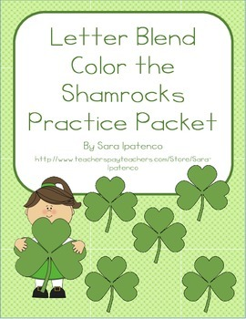 Color the Shamrock Letter Blends Phonics Practice Packet