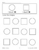 Color the Shapes: Red Circles/Green Squares