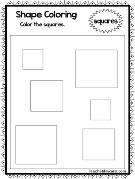 Color the Shapes Worksheets. 12 Shapes Worksheets. Preschool-KDG.
