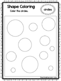 Color the Shapes Worksheets. 12 Shapes Worksheets. Preschool-KDG.